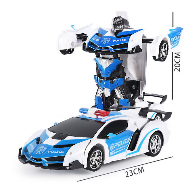 Electric remote control car 1:18 one button remote control deformation car robot simulation model ca